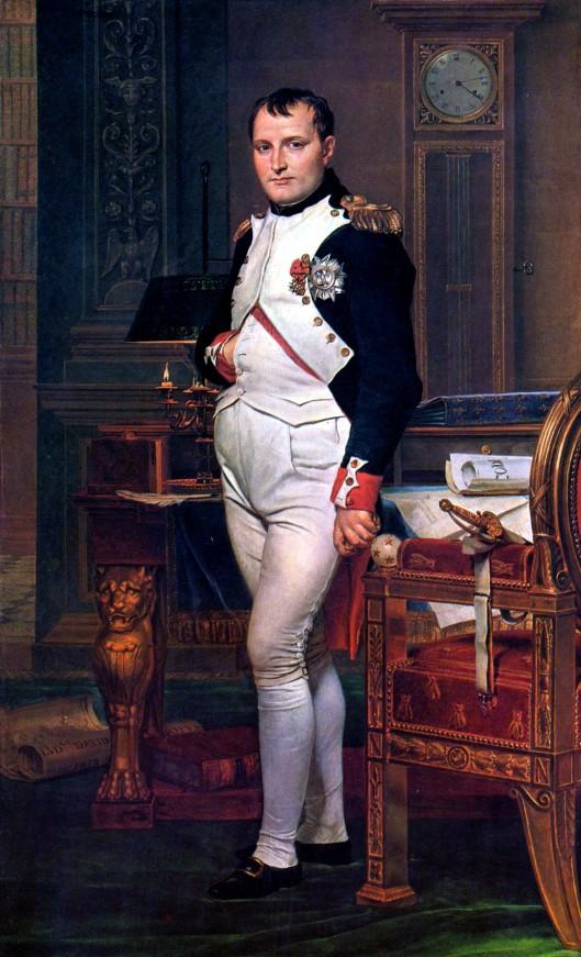 Napoleon. Gemälde von Jacques-Louis David, 1812