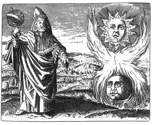 Hermes de Trimegisto representando la viva imágen de mercurio