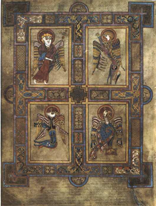 El Tetramorfos del Claustro de Frómista. Libro de Kells, S.VIII