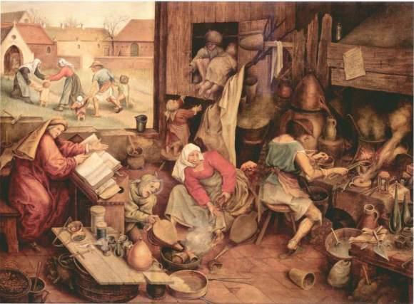 The Alchemist, 1558.Pieter Breughel (1525-1569)