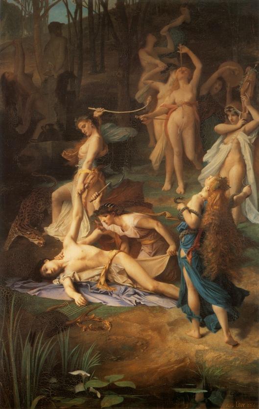 La muerte de Orfeo, Émile Lévy