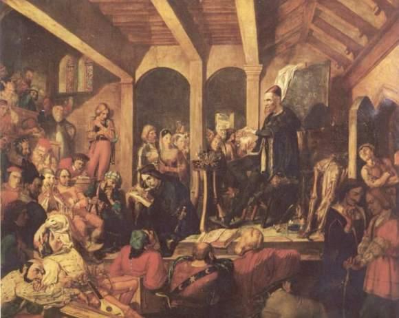Paracelsus Lecturing on the Elixir Vitae david scott