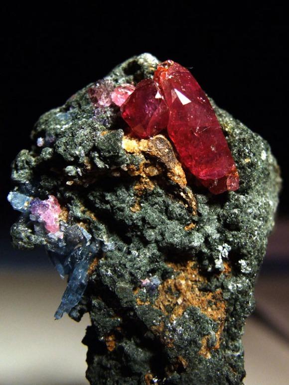 Natural ruby crystals from Winza, Tanzania