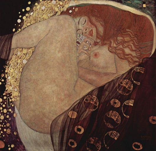 Danae. Gustav Klimt, 1907