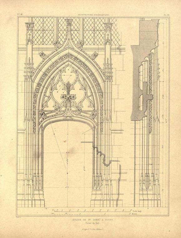 Door detail of the Church of St. Ouen, Rouen